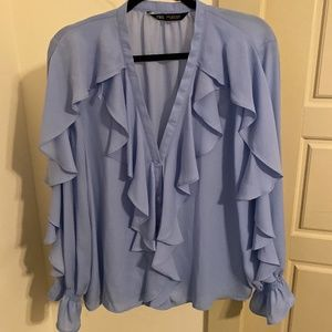 NWT Zara ruffle blouse